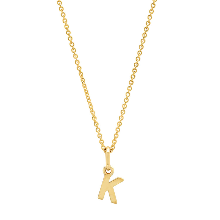 Mini Uppercase Letter Necklace - K