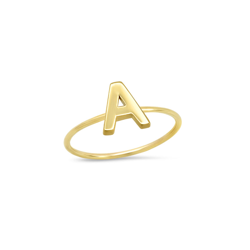 Mini Uppercase Letter Ring