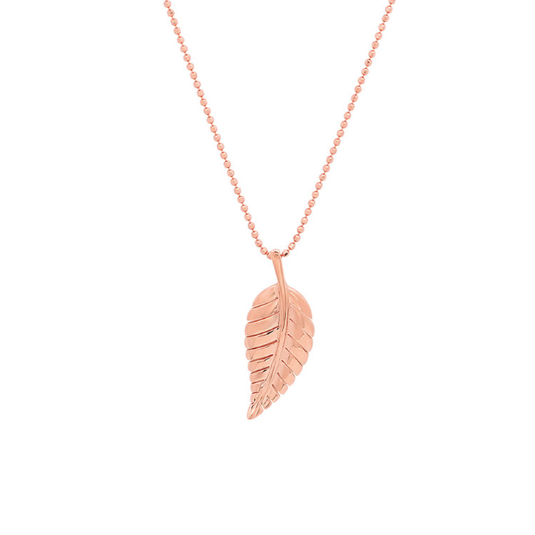 Rose Gold Small Leaf Necklace