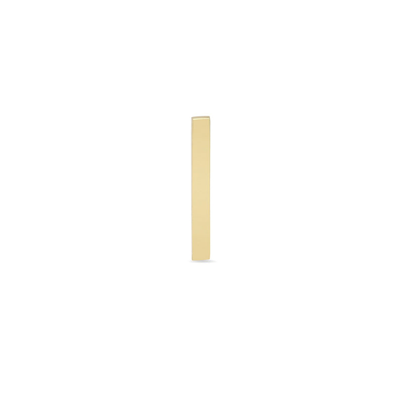 Single Yellow Gold Long Bar Stud