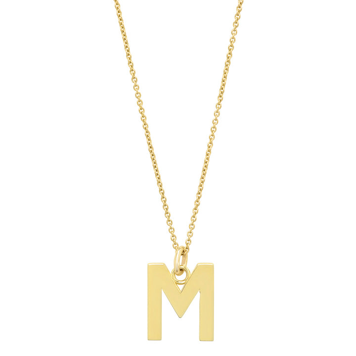 Uppercase Letter Necklace - M