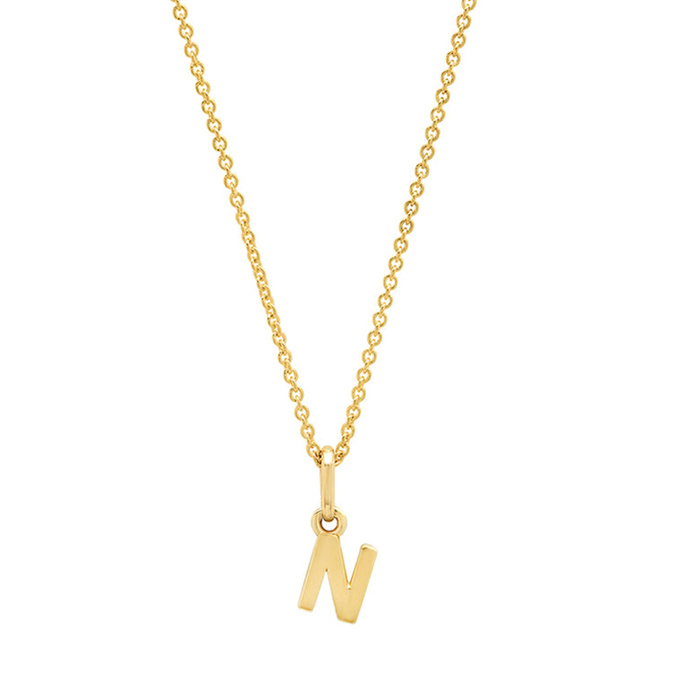 Mini Uppercase Letter Necklace - N