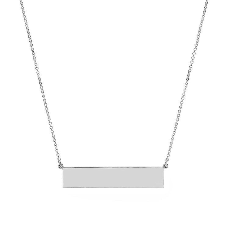 Custom White Gold Nameplate Necklace
