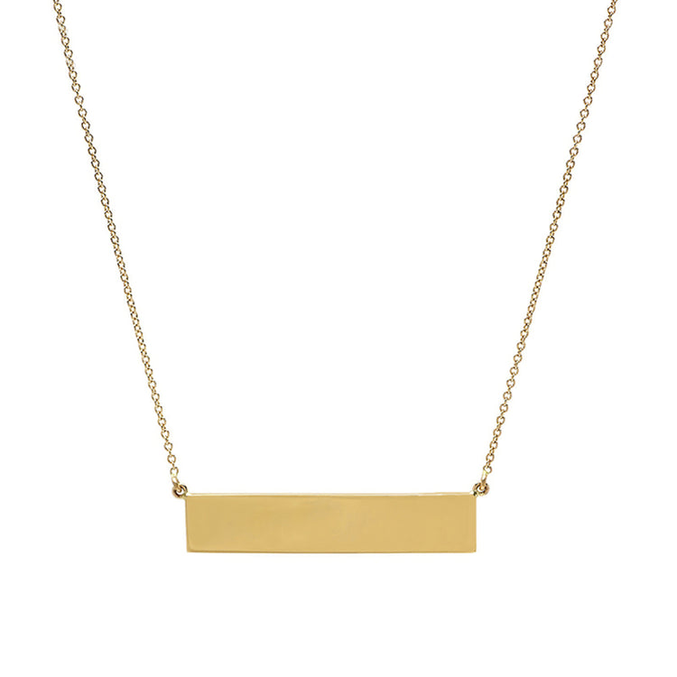 Custom Yellow Gold Nameplate Necklace