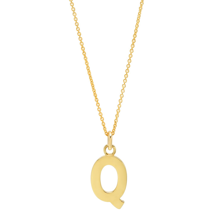 Uppercase Letter Necklace - Q