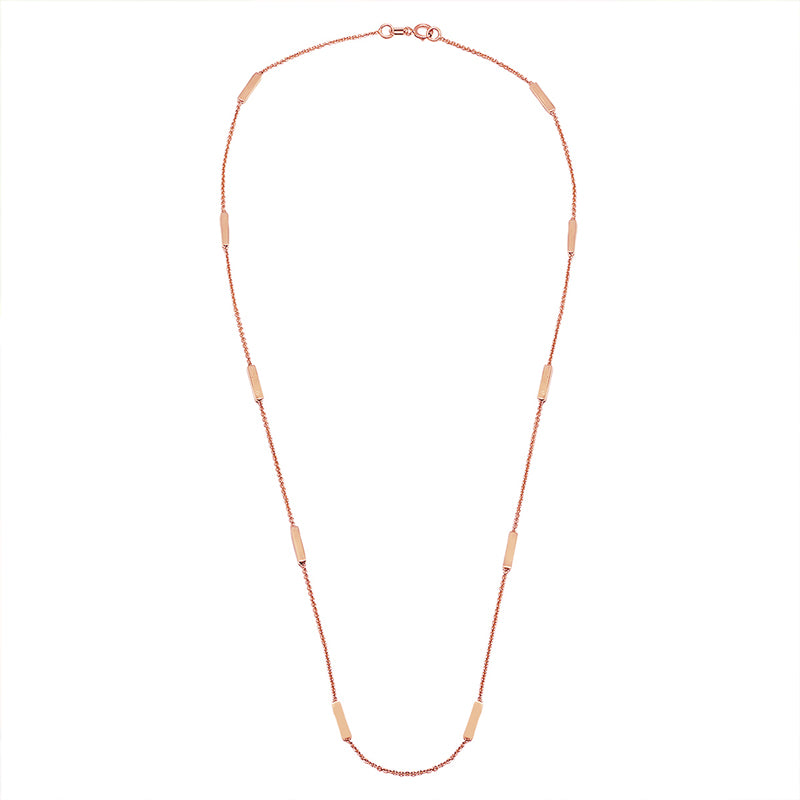 Rose Gold Bar By-The-Inch Necklace