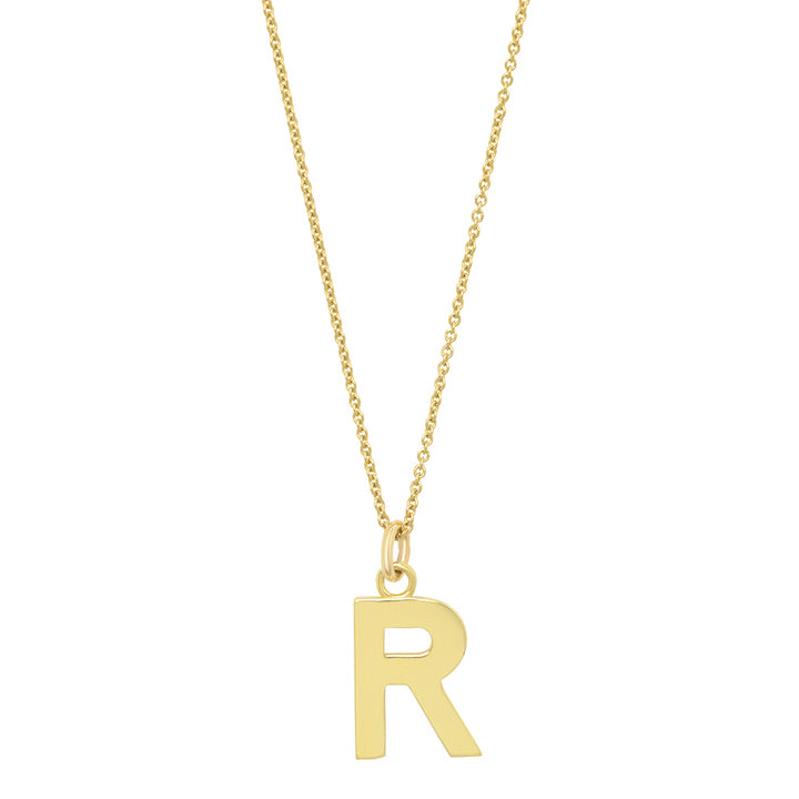 Uppercase Letter Necklace - R