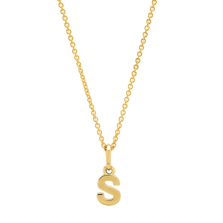Mini Uppercase Letter Necklace - S