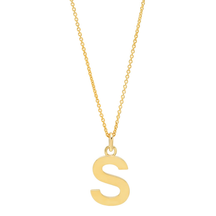 Uppercase Letter Necklace - S