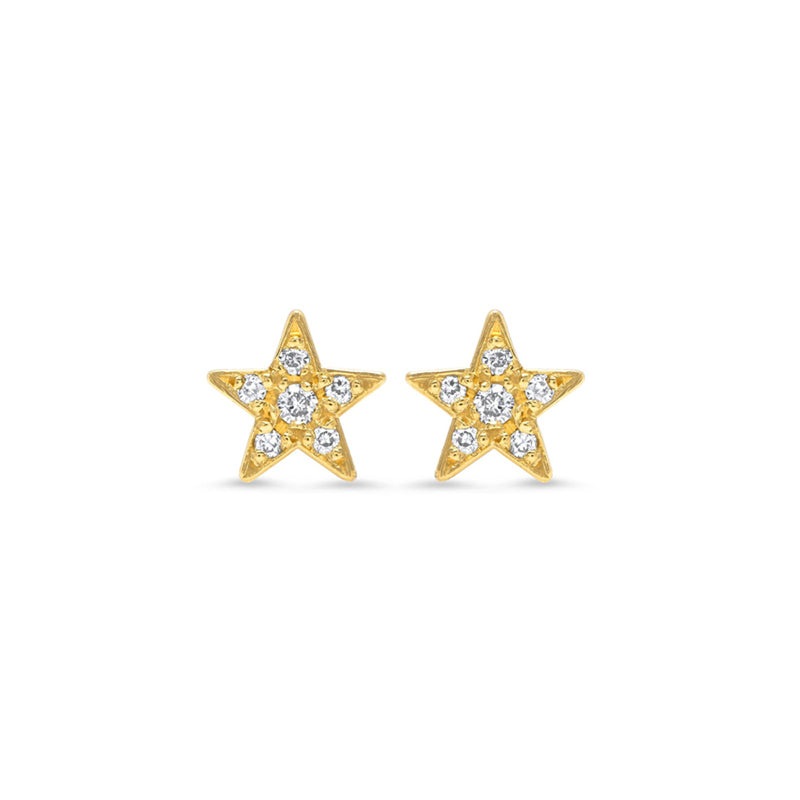 Diamond Mini Star Studs