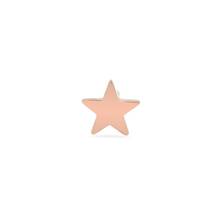Single Rose Gold Mini Star Stud