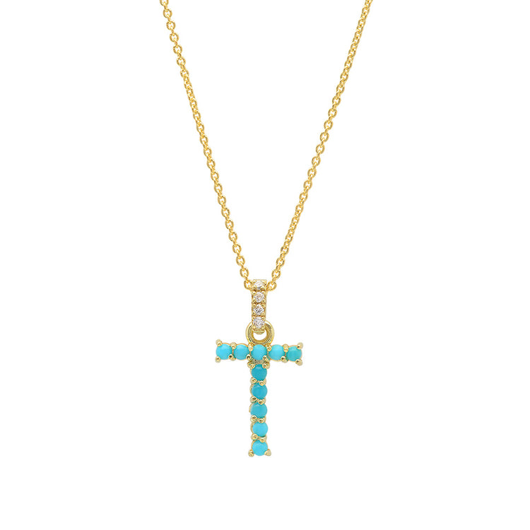 Turquoise Letter Necklace - T
