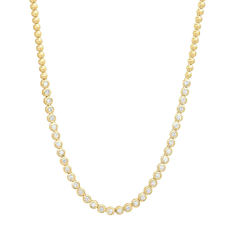 1/3 Diamond Mini Bezel Tennis Necklace