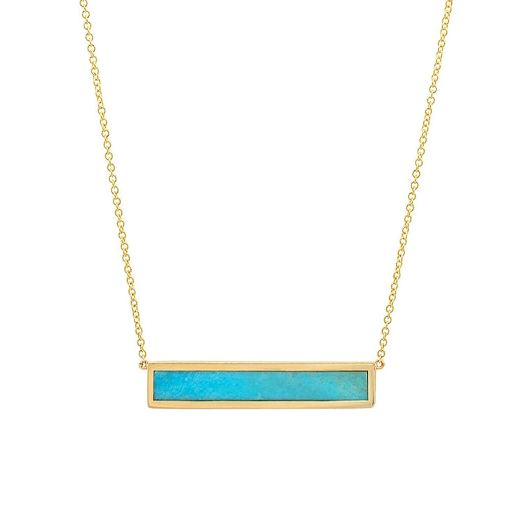 Turquoise Inlay Bar Necklace