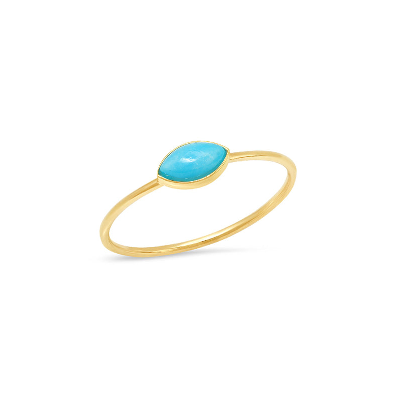 Turquoise Marquise Ring
