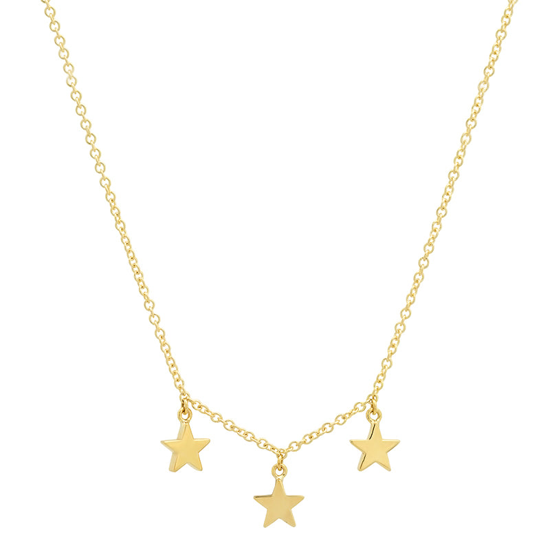 3 Mini Star Dangle Necklace