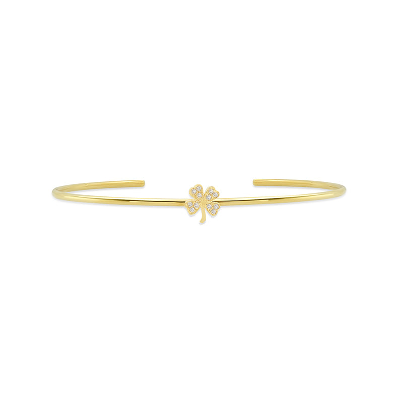 Diamond Mini Clover Cuff