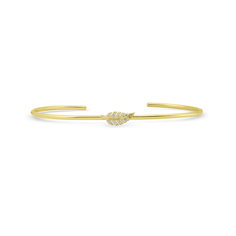 Diamond Mini Leaf Cuff