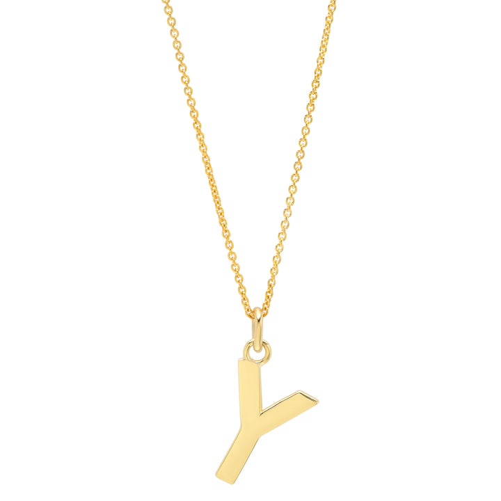 Uppercase Letter Necklace - Y