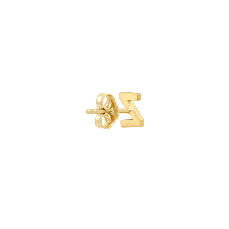 Diamond Mini Uppercase Letter Stud - Z