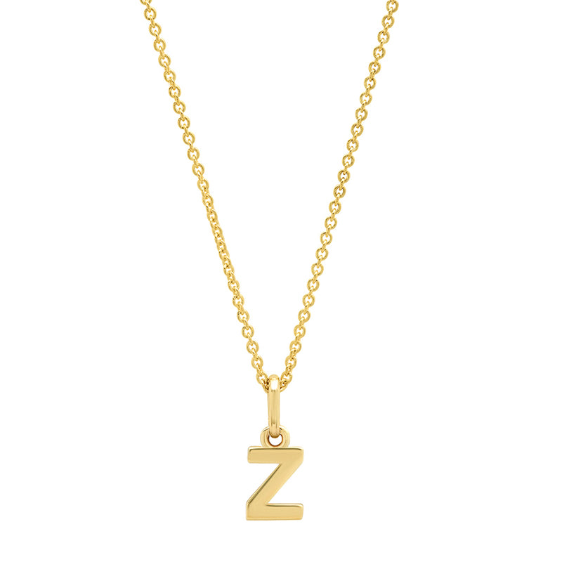 Mini Uppercase Letter Necklace - Z