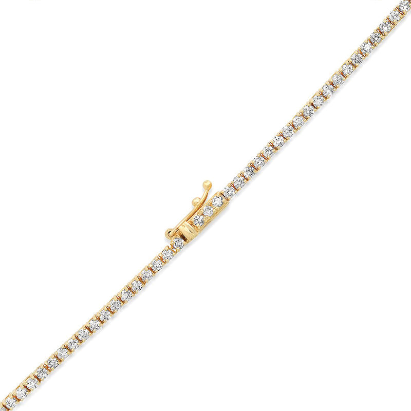 4-Prong Diamond Tennis Necklace