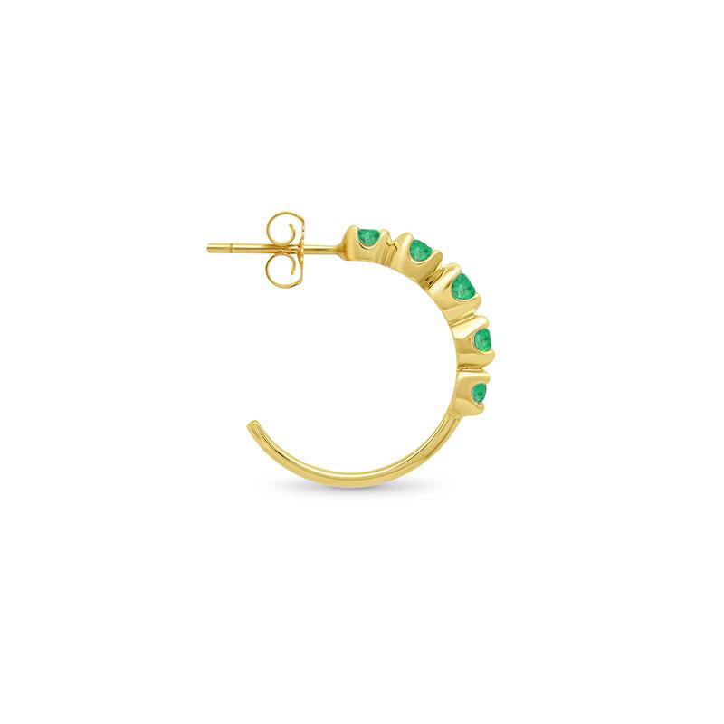 Small Emerald Graduated Hoops