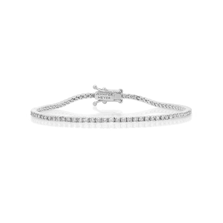 White Gold Diamond 4 Prong Tennis Bracelet