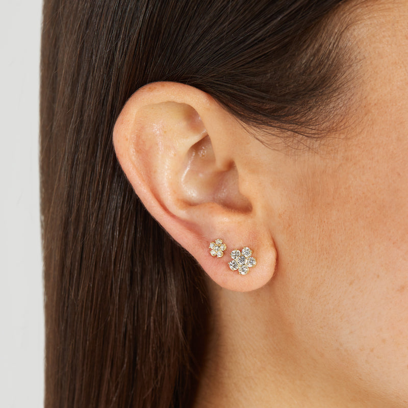 Diamond Large Flower Studs