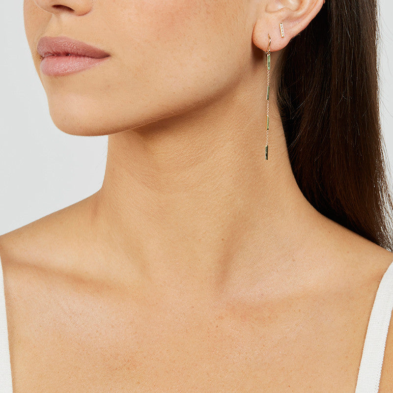 Bar Chain Drop Earrings