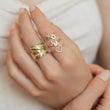 Diamond Mini Uppercase Letter Ring - U
