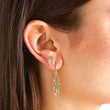 Hammered 1 Marquise Drop Earrings