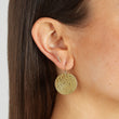 Small Hammered Disc Earrings