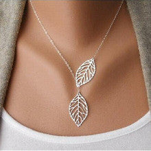 Beautiful Double Leaf  Necklace for women