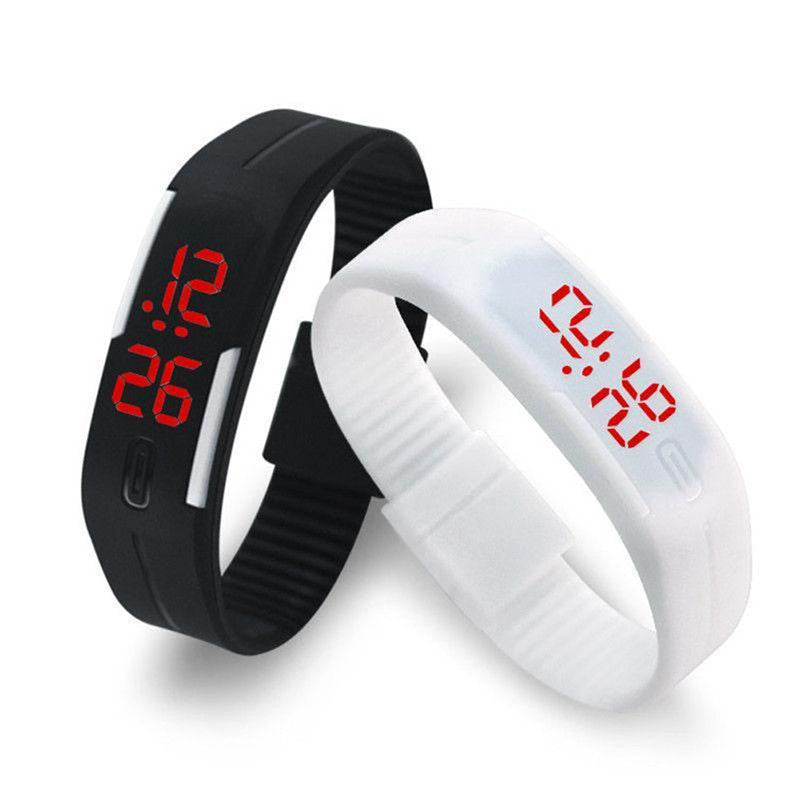 Candy Color Men's Women's Watches Rubber LED Band