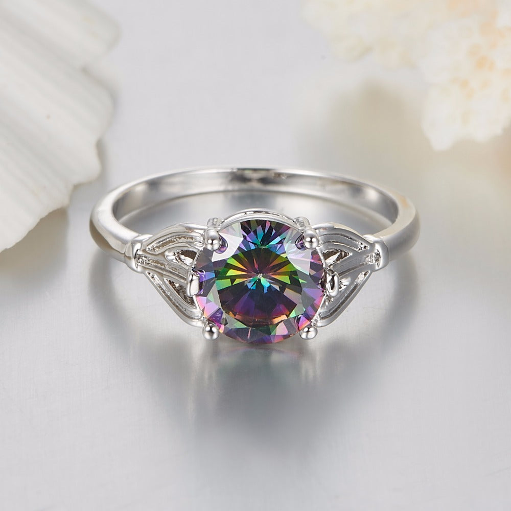rhinestone rings crystal jewelry antique bronze for wedding finger vintage women product fashion big stone accessories