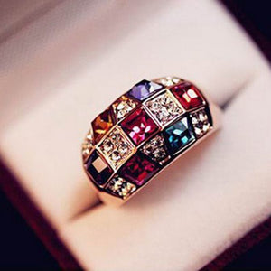 Colorful Cubic Zirconia Ring For Party/Dinner/Casual/Wedding/Promise/Valentine