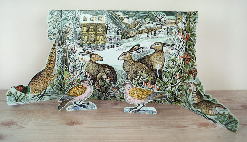 We Three Hares - Advent Calendar by Angela Harding