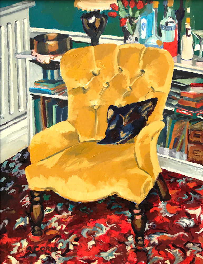 Yellow Chair By Alison Cork