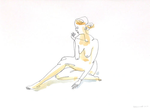 Thoughtful Moment (Seated Figure) by Ben Barrett