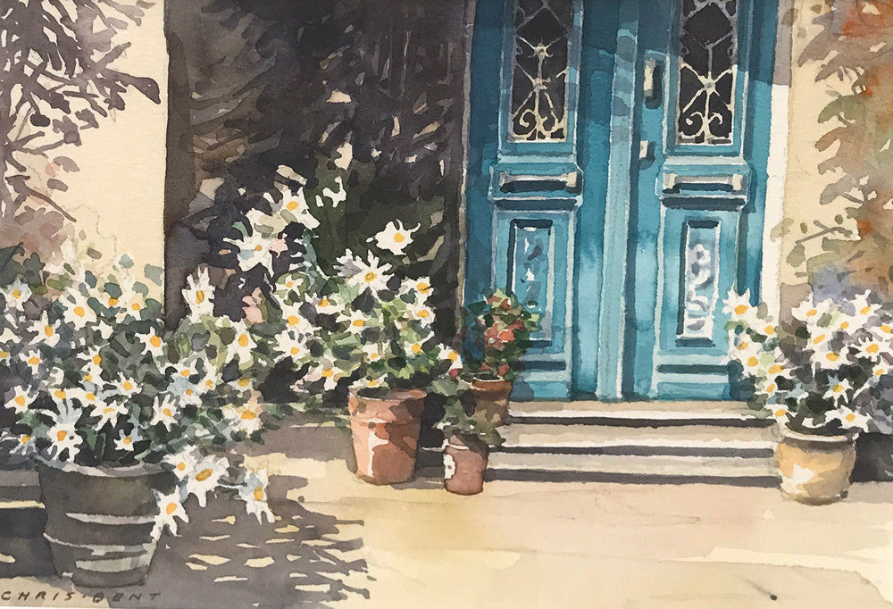 Blue door by Christopher Bent