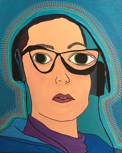 Self Portrait With Headphones II by Caroline Berridge