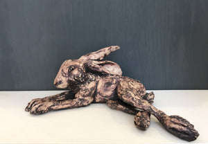 Reclining Hare by Jennifer Jane Birkby