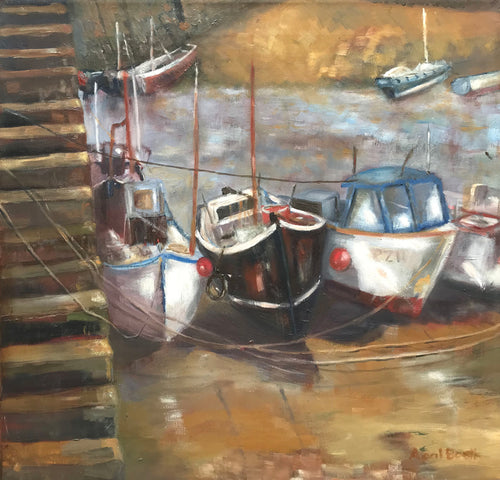 Harbour (Mousehole, Cornwall) by April Booth