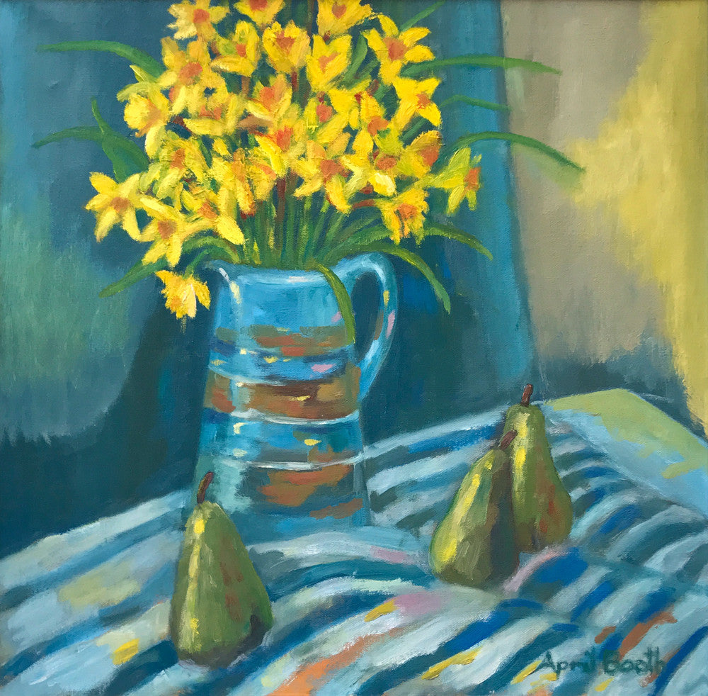 Jug and Daffodils by April Booth
