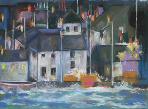 Night Lights (St Ives Harbour) by April Booth