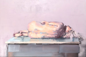 Reclining Nude with Greys II by Scott Bridgwood