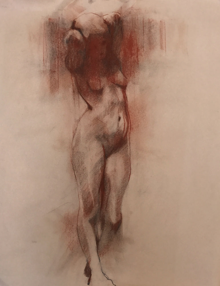 Study for Standing Nude I by Scott Bridgwood