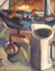 Norfolk Boat and Jug by Lesley Brooks