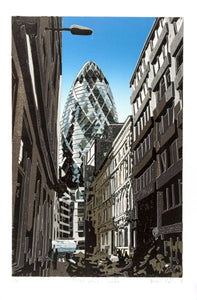 Distant Gherkin by Kevin Holdaway